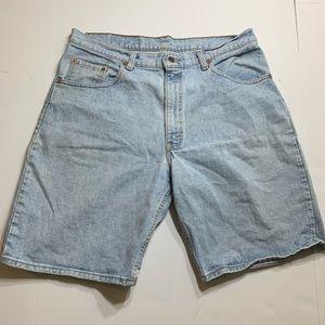 Levi's 560 38x00 light wash shorts